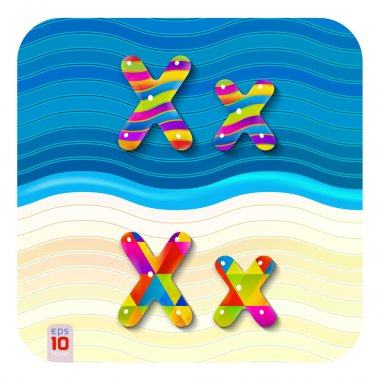 Multicolored letters X