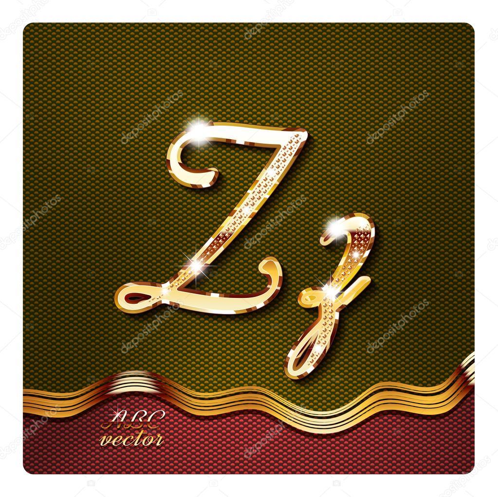 Gold cursive letters z stock vector mrster 73215831 gold cursive letters z stock vector thecheapjerseys Images