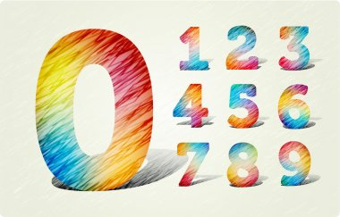 Joyful 3d Bright numbers