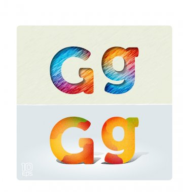 Capital and lowercase letters G