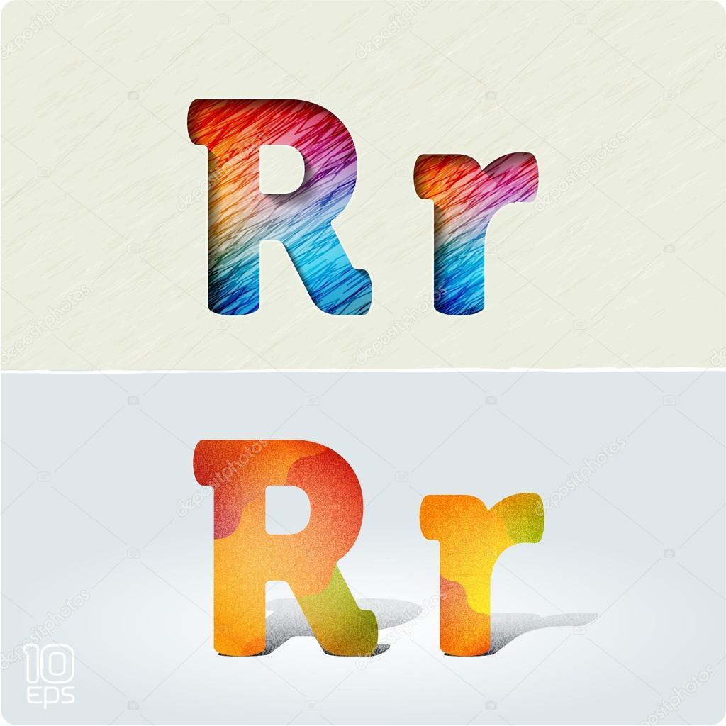 Letras Brillantes Y Positiva R Archivo Imagenes Vectoriales C Mr
