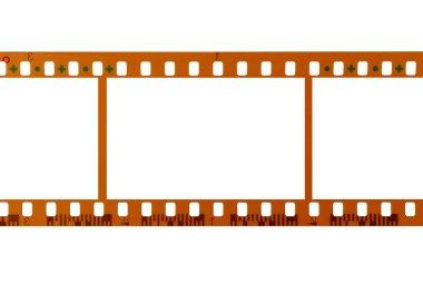 35mm film strip white background close up