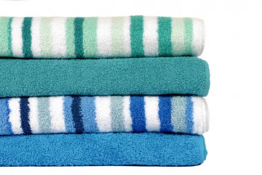 Towels, small stack isolated on white