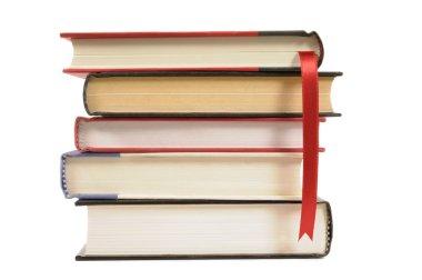 Hardback books with bookmark ribbon