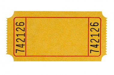 Blank yellow ticket