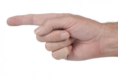 Pointing male hand