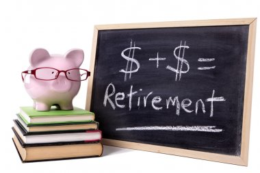 Piggy Bank with retirement formula