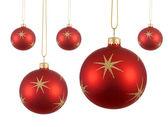 Několik červené vánoční koule nebo ozdoby