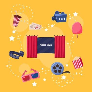Cinema Flat Design