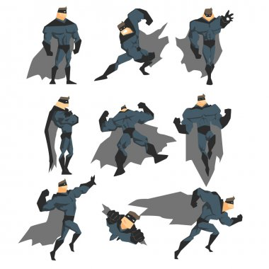 Superhero Actions Set