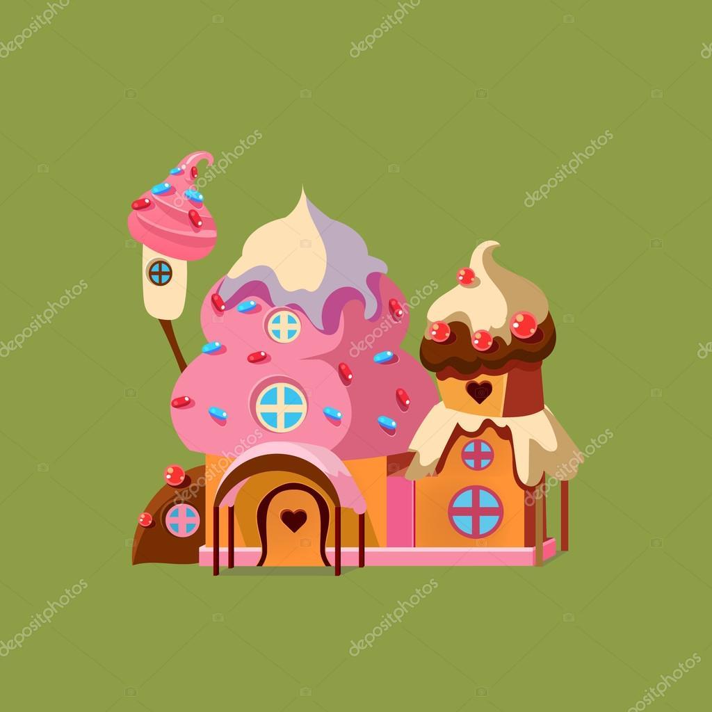 Rumah Permen Stok Vektor Ilustrasi Rumah Permen Bebas Royalti Depositphotos