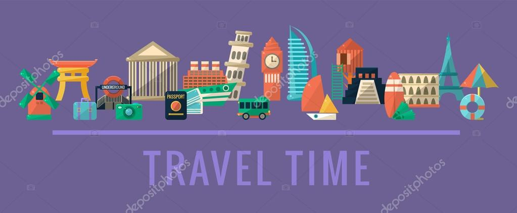 Traveling Destinations Set