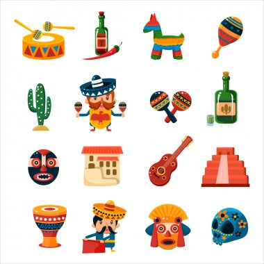 Traditional Mexican Symbols Collection