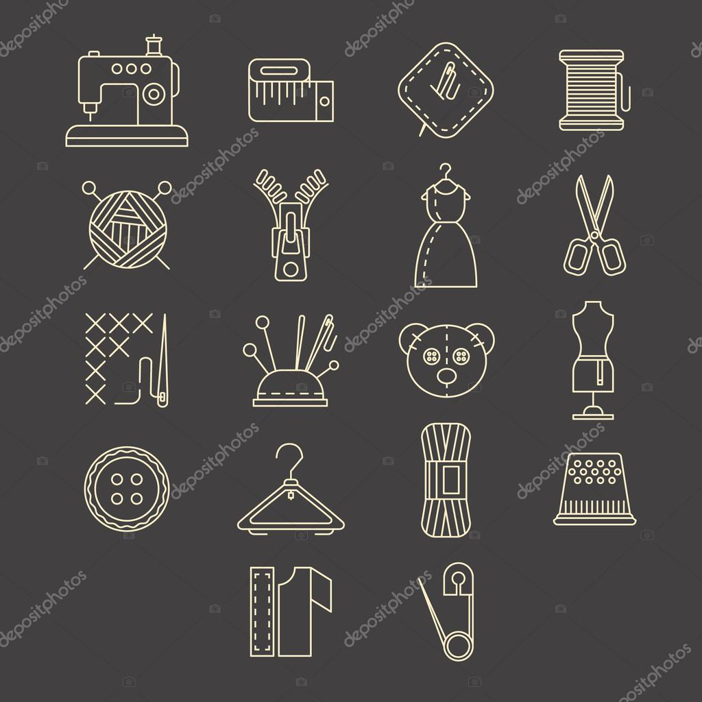 Sewing Equipment and Needlework Icons