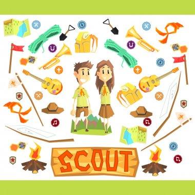 Children Scouts Illustration