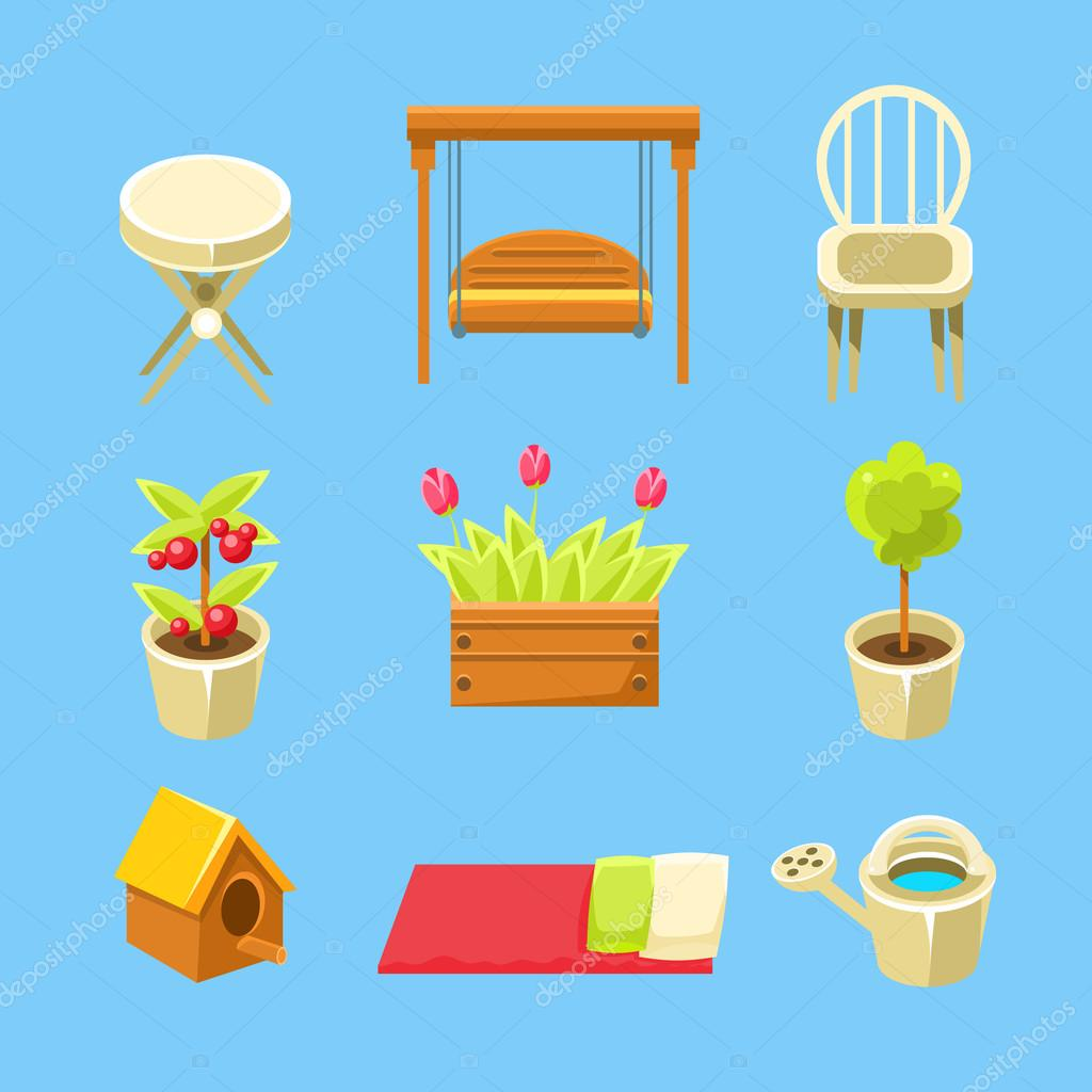Garden Objects Set