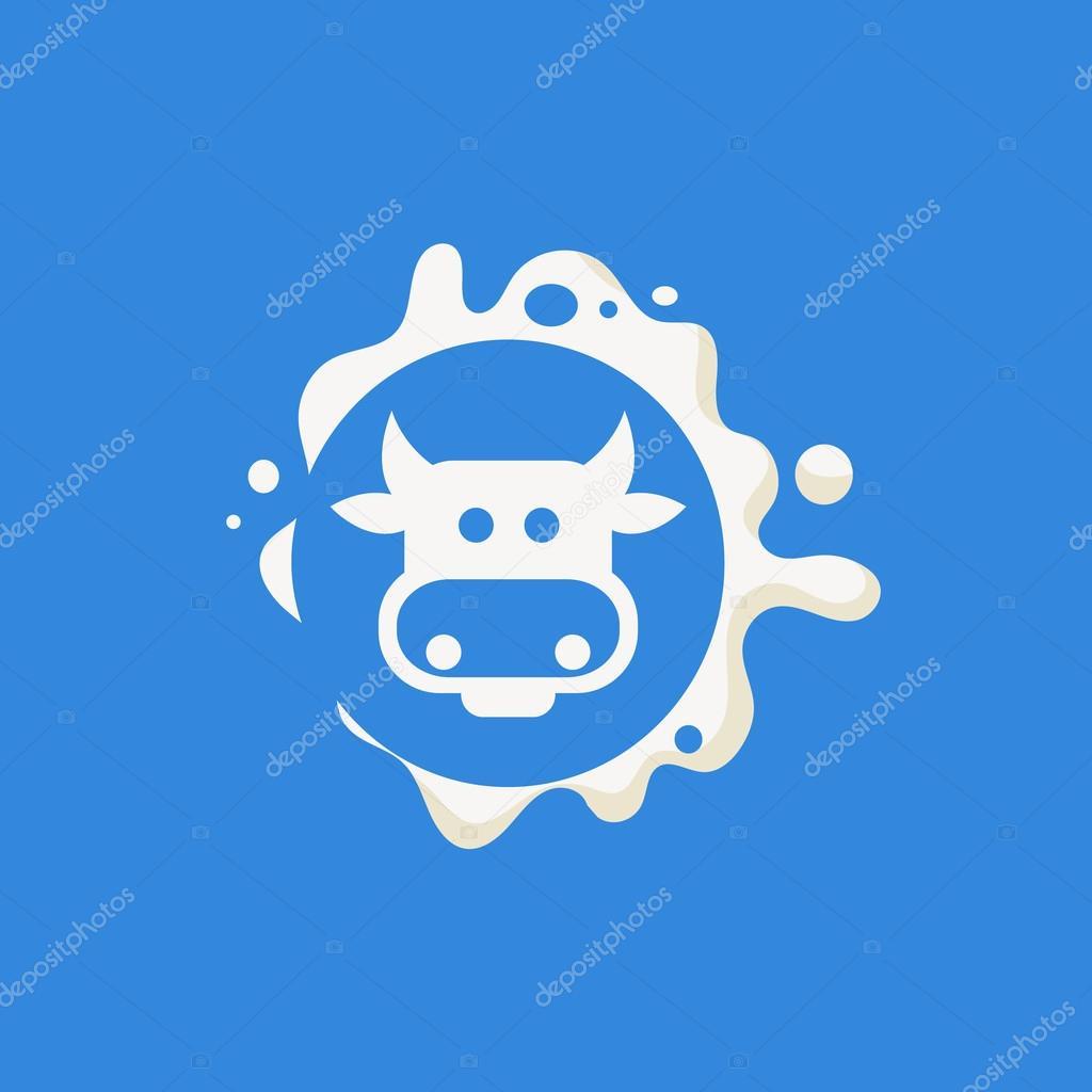 Cow Face Milk Product Logo — Stock Vector © TopVectors #108685738