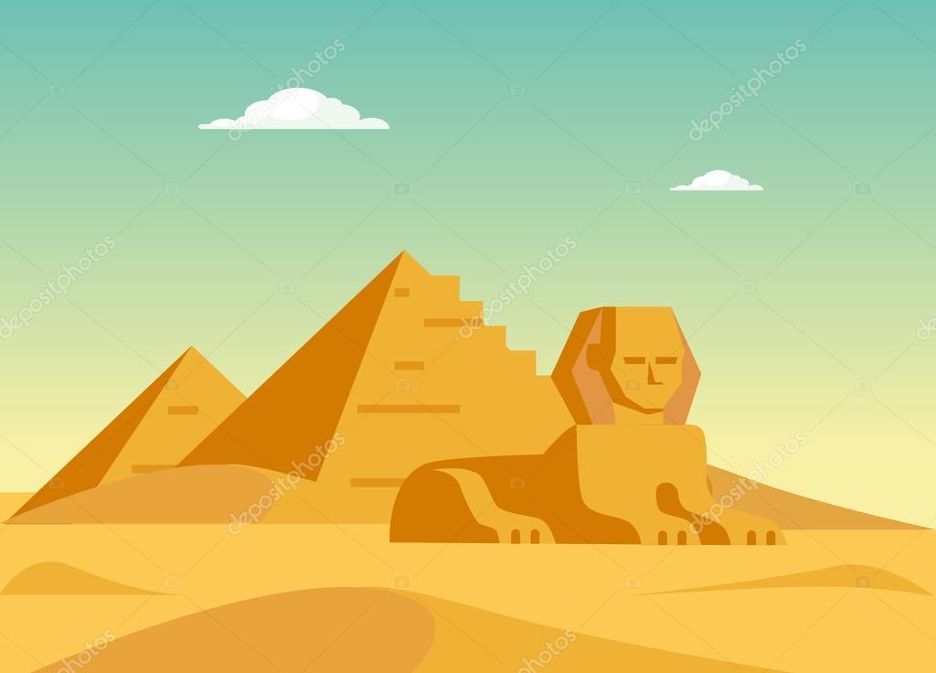 Pyramids And Sphynx