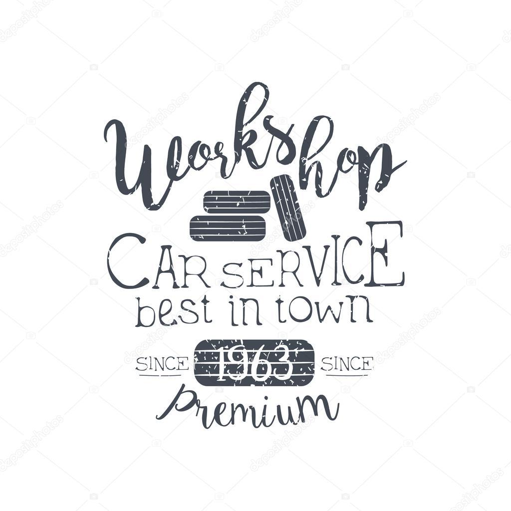 Autó szolgáltatás Vintage bélyegző klasszikus hűvös vektor tervez-val  szöveg elemek fehér háttér — Vektorok TopVectors szerint dd37536944