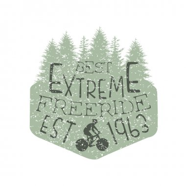 Forest Silhouette Freeride Vintage Label