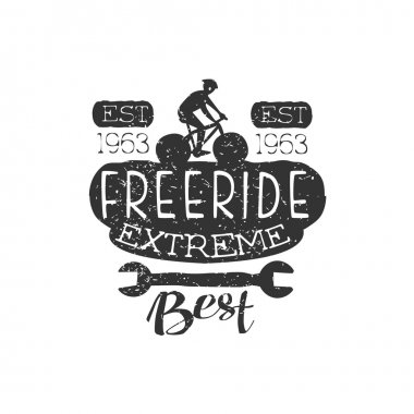 Extreme Freeride Vintage Label With Wrench