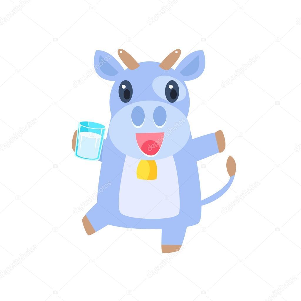Danse avec le verre de lait de vache — Image vectorielle TopVectors ...