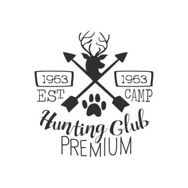 Hunting Club Premium Vintage Emblem