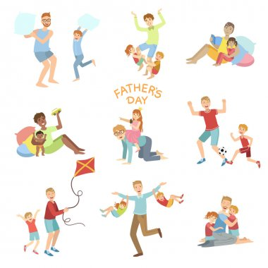 Fathers Day Illustration Set