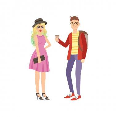 Cool Street Fashion Look Couple