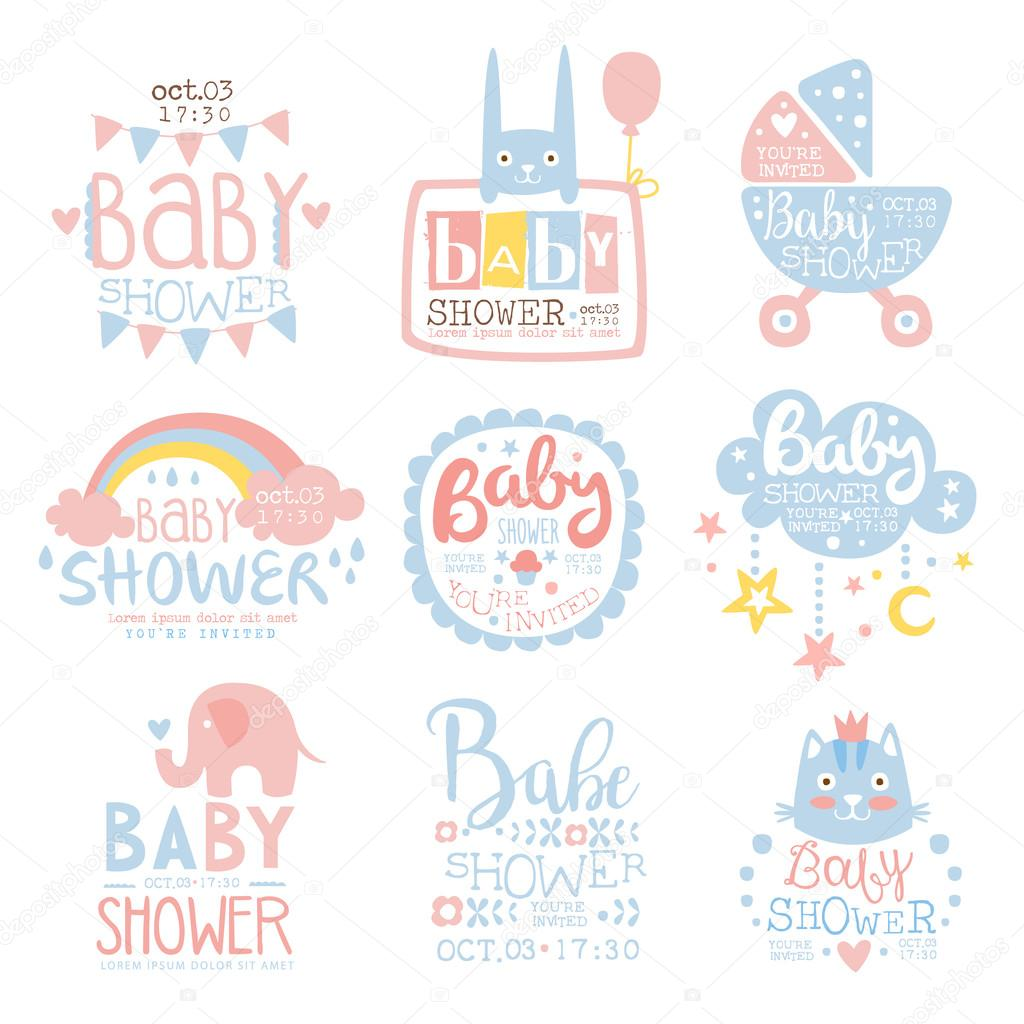 Baby Shower Template | Baby Shower Invitation Template In Pastel Colors Collection Of