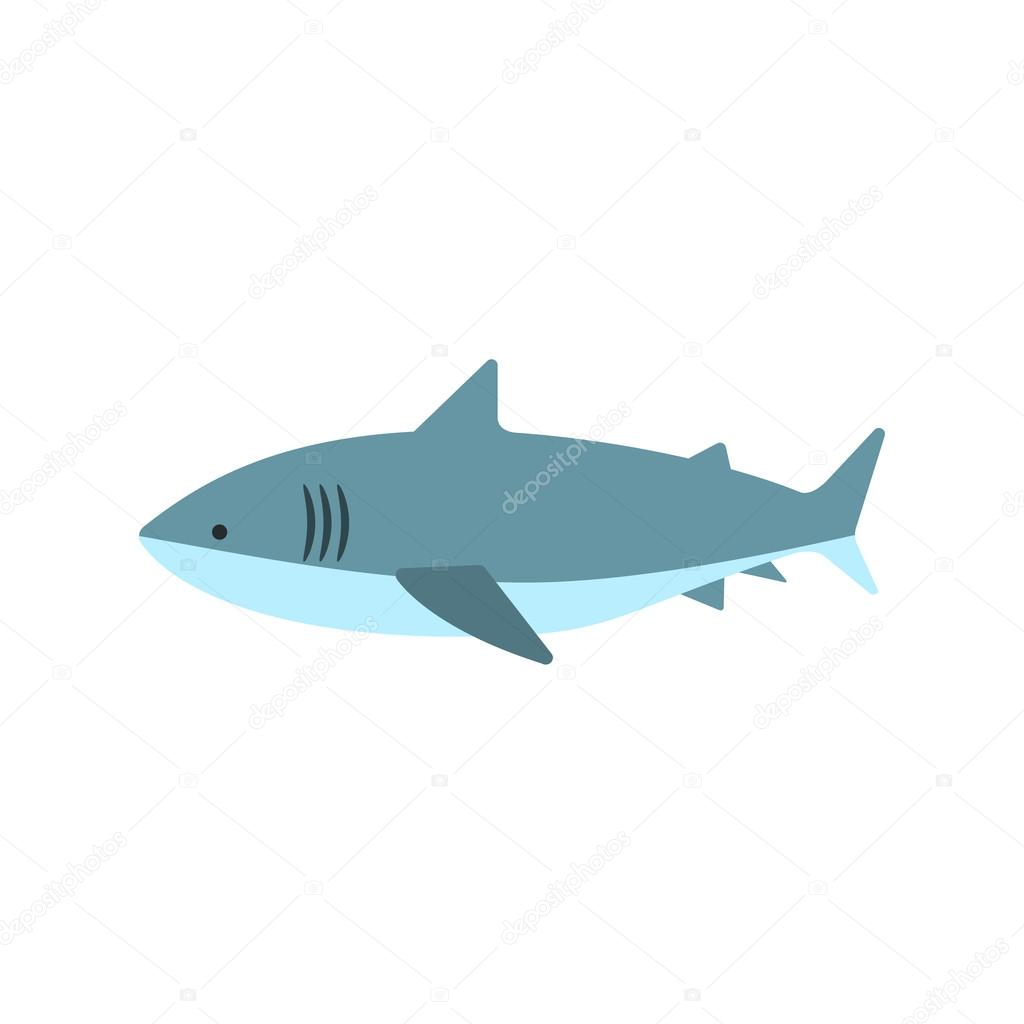 Great White Shark Primitive Style Childish Sticker