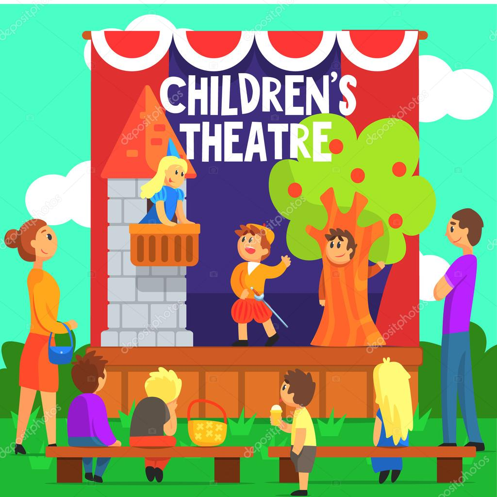 Amateur Children Theatre Performance Of A Fairy Tale
