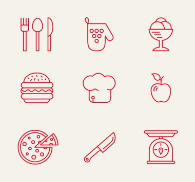 Kitchen seamless pattern.