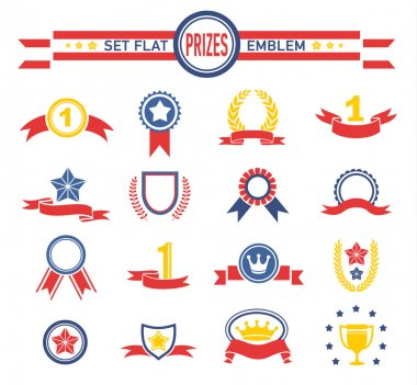 Vintage Ribbons And Banners Series Illustration of a series of design grunge vintage ribbons, banners, labels, shields  and seal stamper