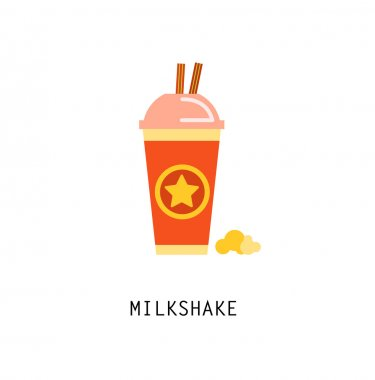 Vintage MilkShake Poster. Vector illustration.