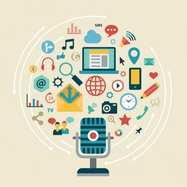 Icons of social network, social media