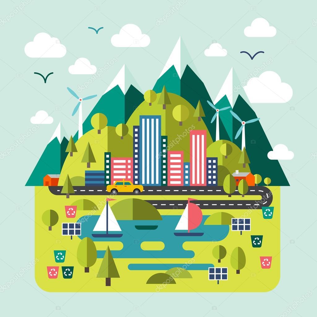 Environmentally friendly city