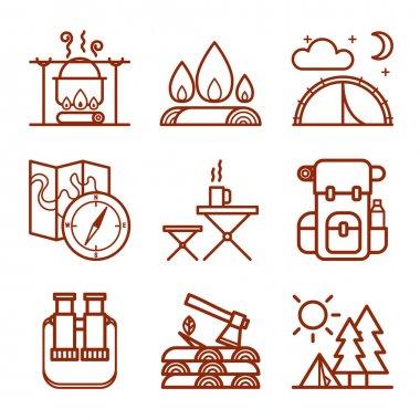 Set of Camping Symbols