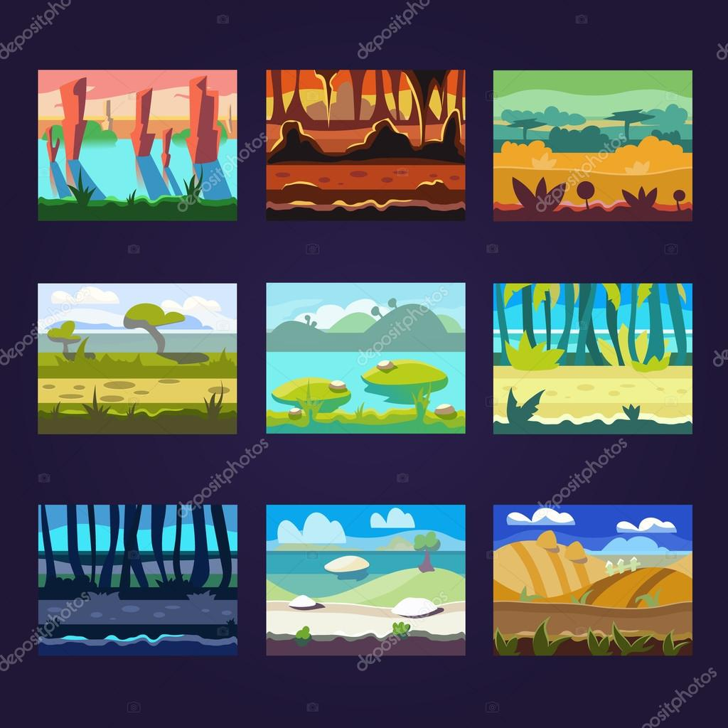 Cartoon Landscapes for Game Design