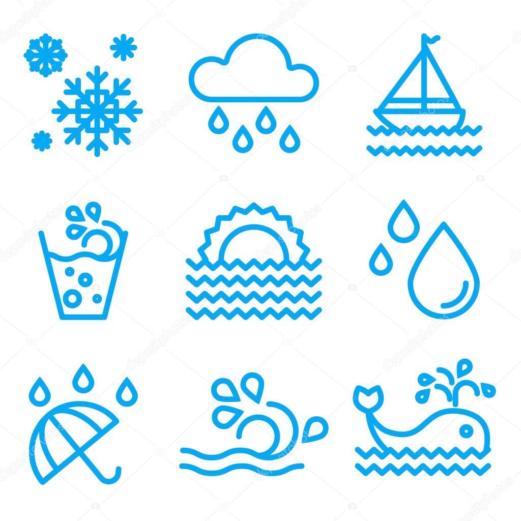 Drops Icons Set