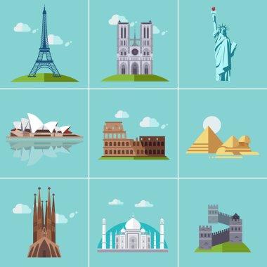 set landmarks and cultures
