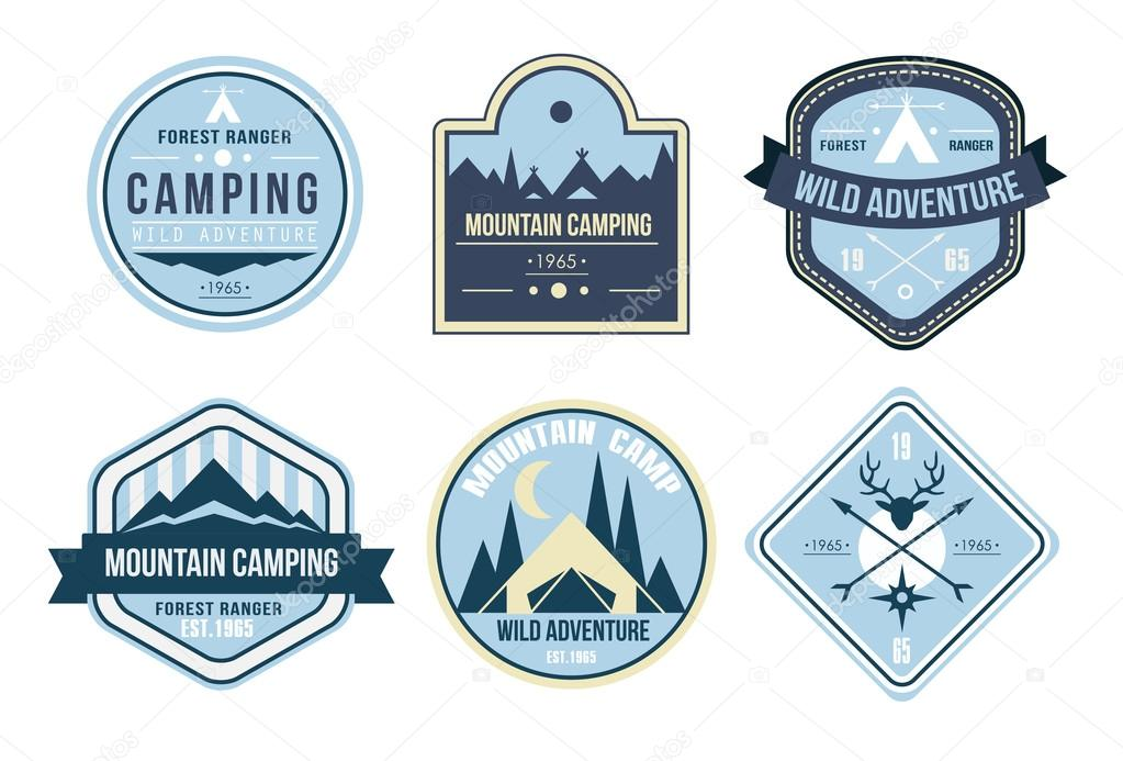 Wilderness and nature exploration logos