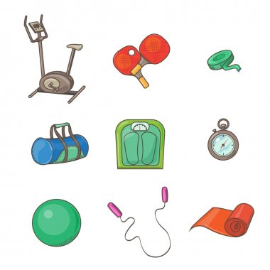 gym set and Fitness elements.