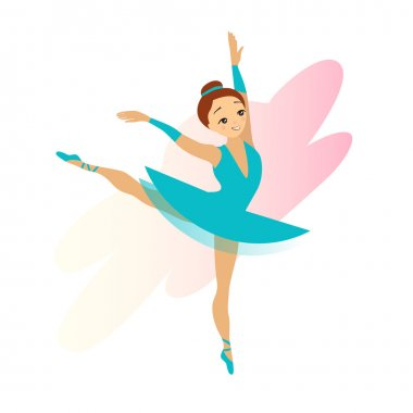 Cute Cyan Ballerina Girl