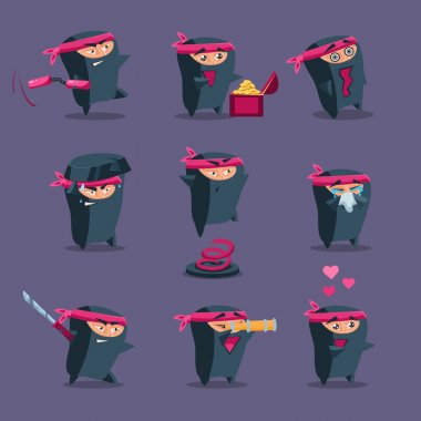Ninja mascot set