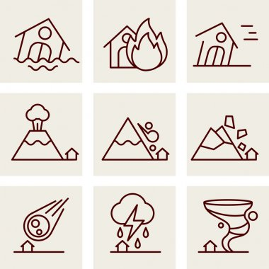 Set of icons into flat style.