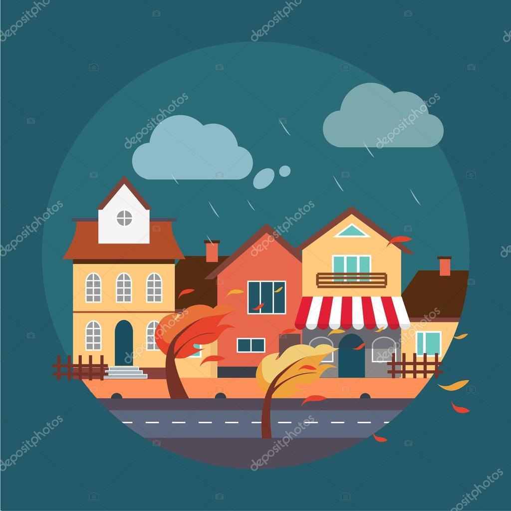 Paysage urbain design plat image vectorielle topvectors for Paysage design