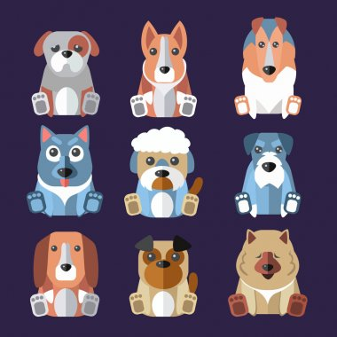 Breeds of Dogs Icons.