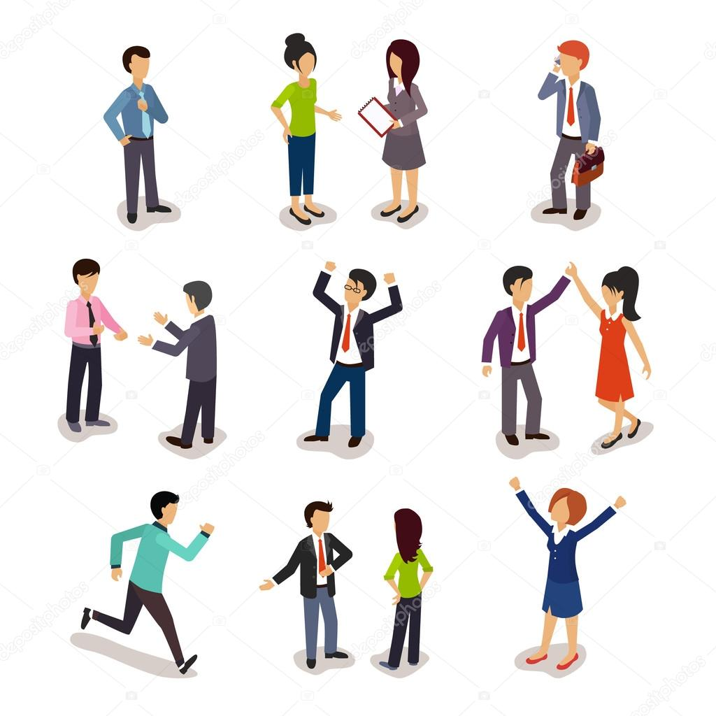 Several People Isometric, Vector