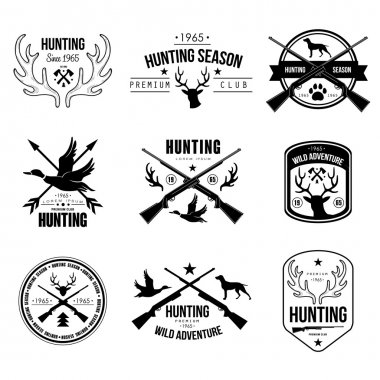 set of hunting club labels
